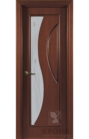 Дверь Крона Стелла Макоре стекло матовое с рисунком