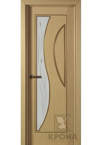 Дверь Крона Стелла Дуб стекло матовое с рисунком
