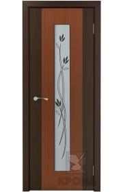 Дверь Крона Элит Макоре стекло белое с рисунком