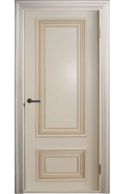 Двери Поло Молочный с золотом Глухие
