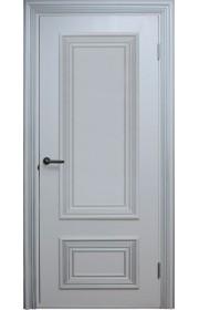 Двери Поло Белые с серебром Глухие