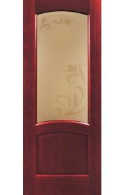 Дверь Покрова Леон Р Сапель стекло бронза с гравировкой
