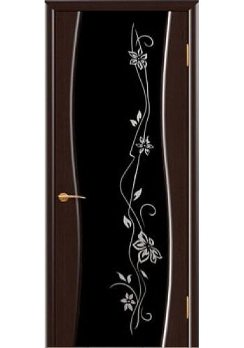 Дверь Покрова Волга Венге стекло тонированное триплекс