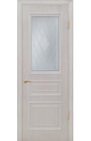 Дверь Покрова Бостон Б Дуб белый стекло матовое