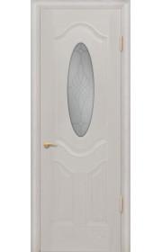 Дверь Покрова Орбита Б Дуб белый стекло матовое