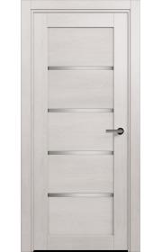 Двери Статус 121ТР Дуб белый стекло Триплекс белый