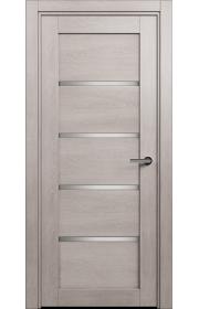 Двери Статус 121ТР Дуб серый стекло Триплекс белый