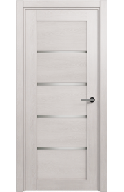 Двери Статус 121С Дуб белый стекло Сатинато белое