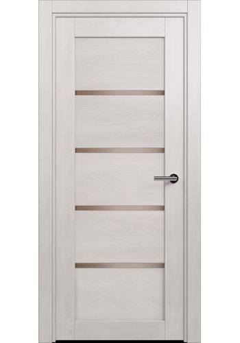 Двери Статус 121С Дуб белый стекло Сатинато бронза