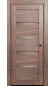 Двери Статус 121С Дуб капучино стекло Сатинато бронза