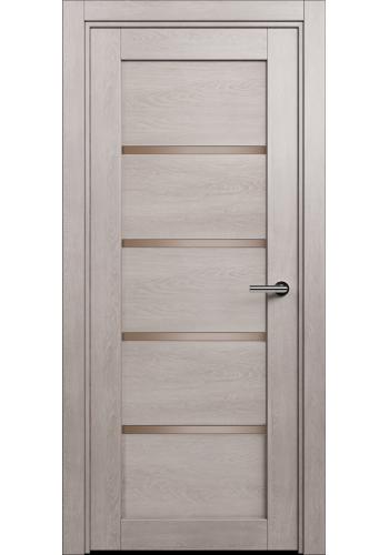 Двери Статус 121С Дуб серый стекло Сатинато бронза