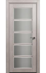 Двери Статус 122Ф Дуб серый стекло Фацет
