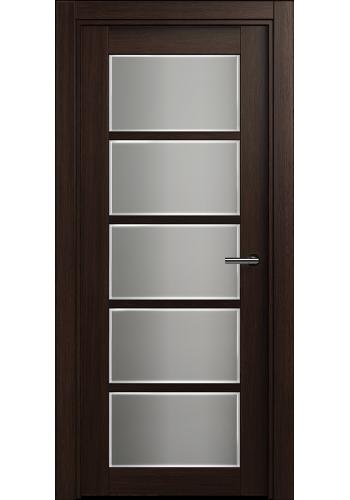 Двери Статус 122Ф Орех стекло Фацет