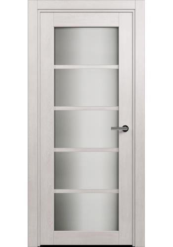 Двери Статус 122ТР Дуб белый стекло Триплекс белый