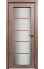 Двери Статус 122ТР Дуб капучино стекло Триплекс белый