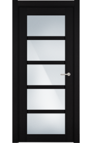 Двери Статус 122ТР Пепельный венге стекло Триплекс белый