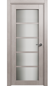 Двери Статус 122ТР Дуб серый стекло Триплекс белый