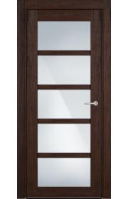 Двери Статус 122ТР Орех стекло Триплекс белый