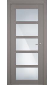 Двери Статус 122ТР Грей стекло Триплекс белый