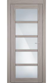 Двери Статус 122ТР Ясень стекло Триплекс белый