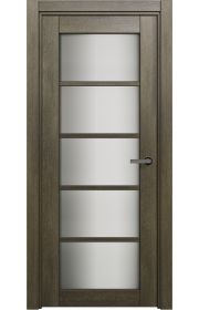 Двери Статус 122ТР Дуб винтаж стекло Триплекс белый