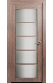 Двери Статус 122С Дуб капучино стекло Сатинато белое