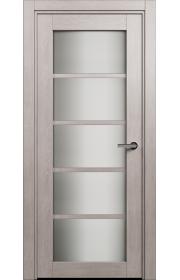 Двери Статус 122С Дуб серый стекло Сатинато белое
