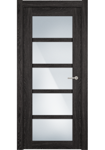 Двери Статус 122С Дуб патина стекло Сатинато белое