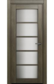 Двери Статус 122С Дуб винтаж стекло Сатинато белое