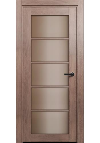 Двери Статус 122С Дуб капучино стекло Сатинато бронза