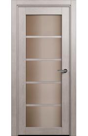 Двери Статус 122С Дуб серый стекло Сатинато бронза