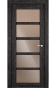 Двери Статус 122С Дуб патина стекло Сатинато бронза