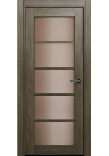Двери Статус 122С Дуб винтаж стекло Сатинато бронза
