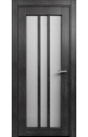 Двери Статус 136 Дуб черный стекло Канны