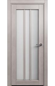Двери Статус 136 Дуб серый стекло Канны