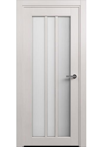 Двери Статус 136 Дуб белый стекло Сатинато белое