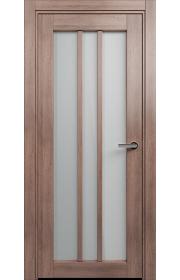 Двери Статус 136 Дуб капучино стекло Сатинато белое