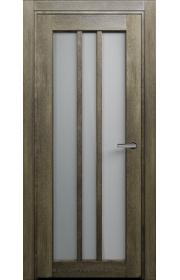 Двери Статус 136 Дуб винтаж стекло Сатинато белое