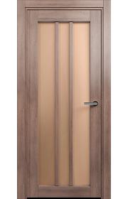Двери Статус 136 Дуб капучино стекло Сатинато бронза