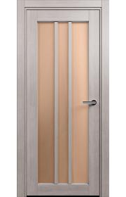 Двери Статус 136 Дуб серый стекло Сатинато бронза