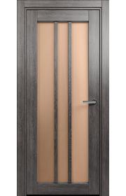 Двери Статус 136 Дуб патина стекло Сатинато бронза