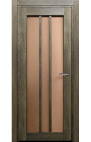 Двери Статус 136 Дуб винтаж стекло Сатинато бронза