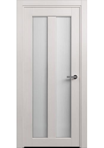 Двери Статус 135 Дуб белый стекло Канны