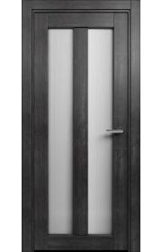 Двери Статус 135 Дуб черный стекло Канны