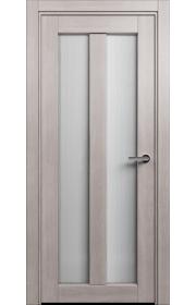 Двери Статус 135 Дуб серый стекло Канны