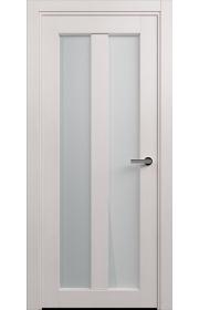 Двери Статус 135 Дуб белый стекло Сатинато белое