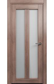 Двери Статус 135 Дуб капучино стекло Сатинато белое