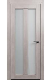 Двери Статус 135 Дуб серый стекло Сатинато белое