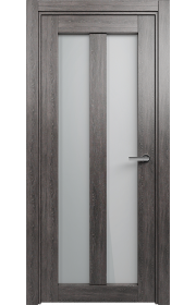 Двери Статус 135 Дуб патина стекло Сатинато белое