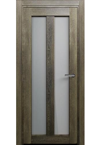 Двери Статус 135 Дуб винтаж стекло Сатинато белое